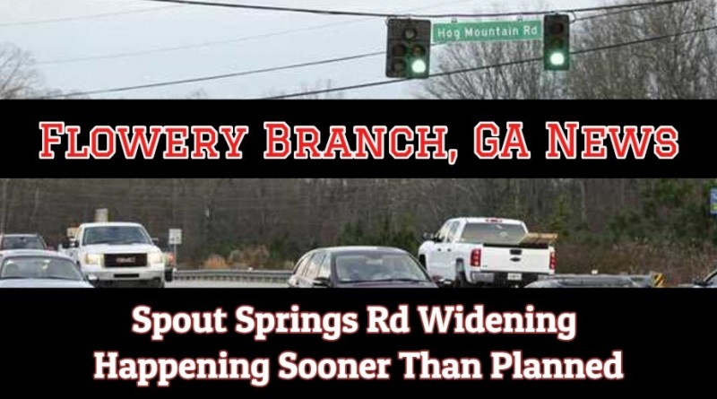 Spout Springs Road in Flowery Branch: Construction Plans Moved Up