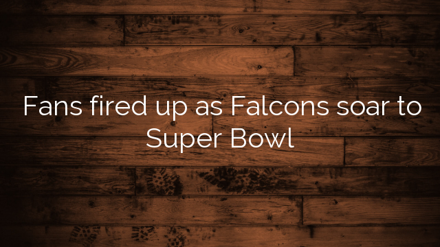 Fans fired up as Falcons soar to Super Bowl
