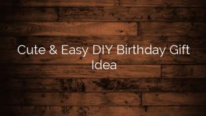 Cute & Easy DIY Birthday Gift Idea
